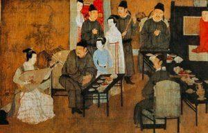 Han Xizai's Evening Banquet painted by Gu Hongzhong