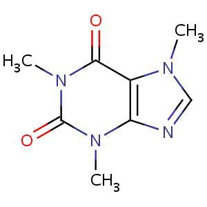 Molécule de caféine
