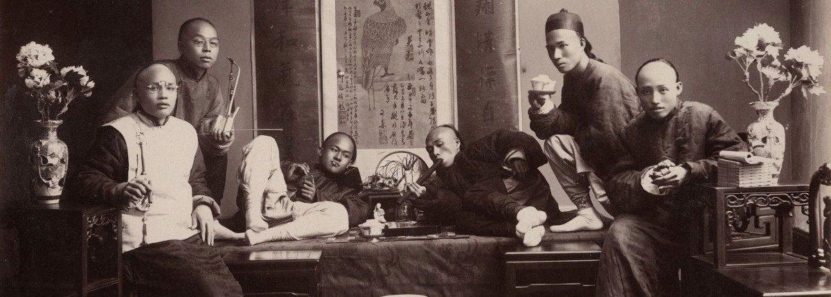 fumeurs d'opium en Chine en 1880 - Guerres de l'opium