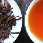 thé oxydé, feuilles infusées