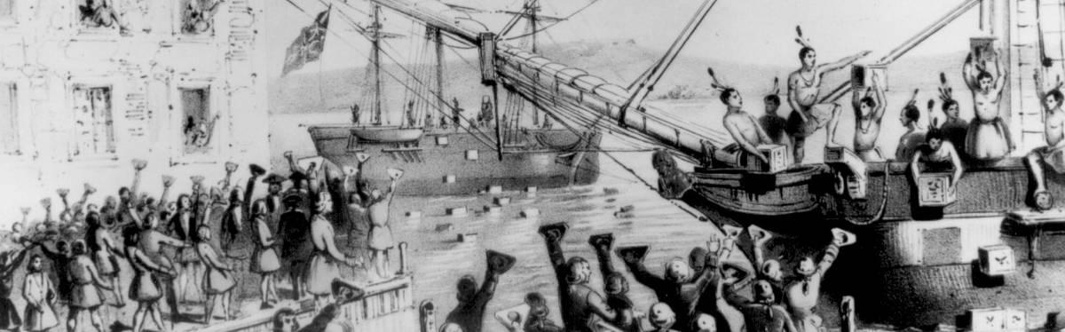 La révolte des colons contre l'Empire britannique, révolte du thé