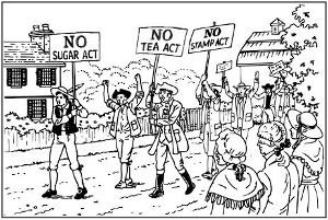 No tea act, no stamp act