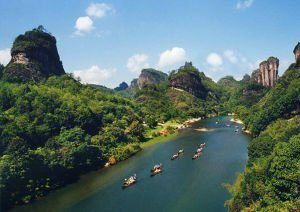 montagnes wuyi chine