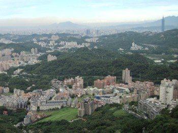 Vue de Taïpei depuis Maokong