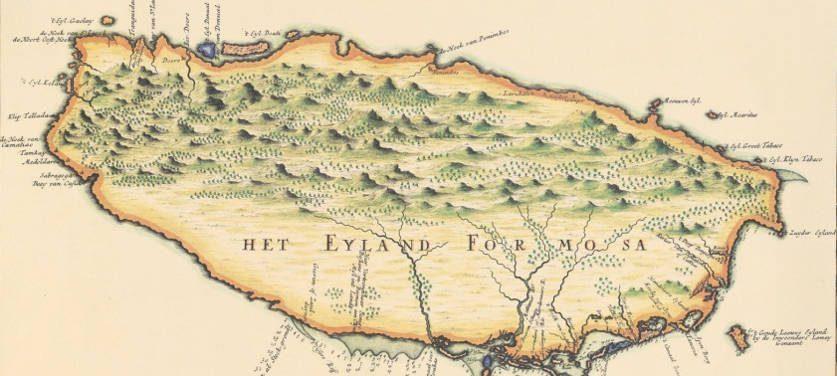 histoire du thé à taiwan, carte historique