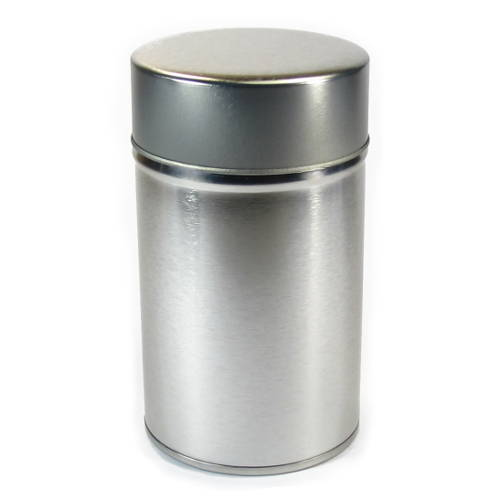 boite à thé vide en métal volume 75g double couvercle