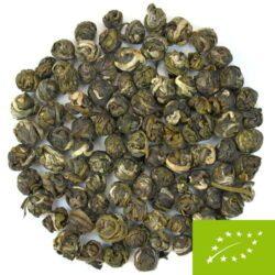 Thé vert roulé en boule du Fujian.