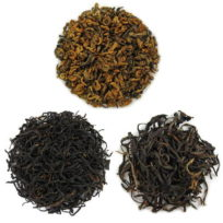 paquets de dégustations de thés rouges de Chine