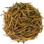 thé noir du Yunnan, aiguilles dorées