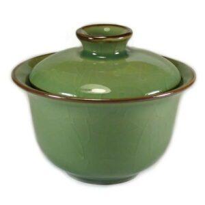 gaiwan en celadon craquelé pour l'infusion du thé
