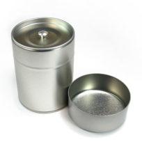 Boite en métal avec 2 couvercles pour ranger le thé