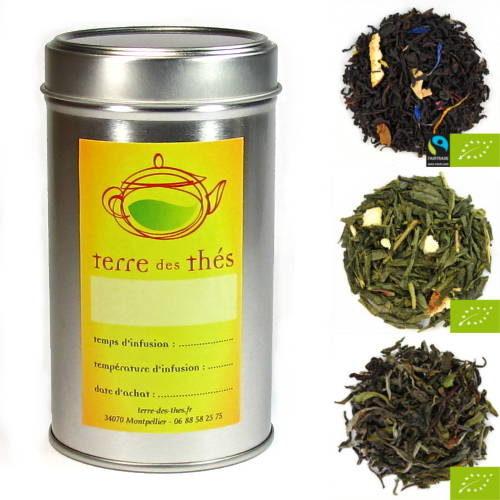 boite à thé pour le cadeau des amoureux 14 Février