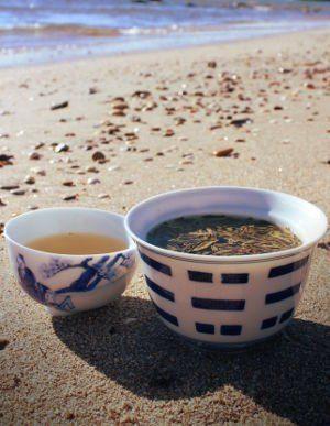 thé à la plage Palavas