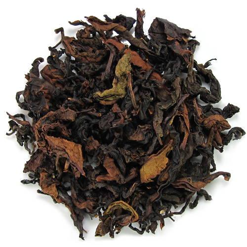 Thé noir, thé oxydé en grandes feuilles de la Thaïlande