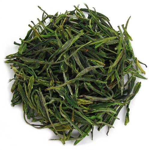 longues feuilles de thé vert des monts Tian Mu