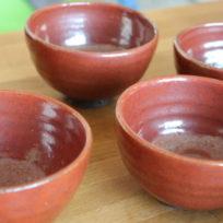 tasses à thé artisanales, poterie fabriquée en France