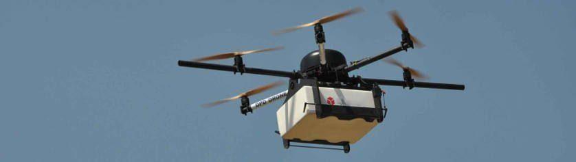 livrer à domicile thé avec drone
