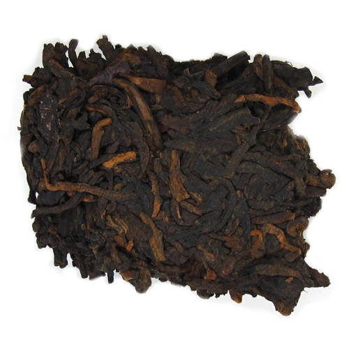 feuilles de thé fermenté , pu'erh shu