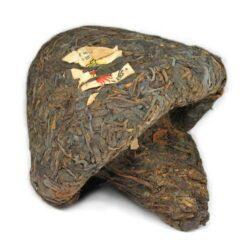 pu-erh compressé en forme de champignon xiaguan 1998