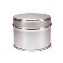 boite argent double couvercle 25g conservation du thé