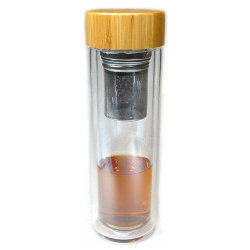 bouteille en verre isotherme pour conservation du thé