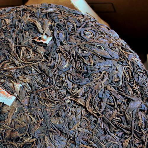 feuilles entières de la galette de pu'er