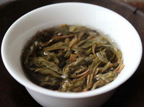 Thé sauvage de Thaïlande feuilles entières de pu-erh vert