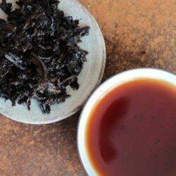infusion des feuilles du tuocha xiaguan